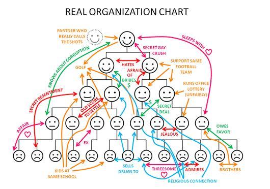 een echt organogram