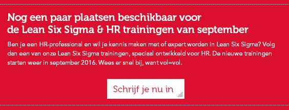 training lean six sigma & HR